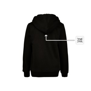 ONE AND ONE MAKES TWO - hoodie kids back - BLK - Frank Willems