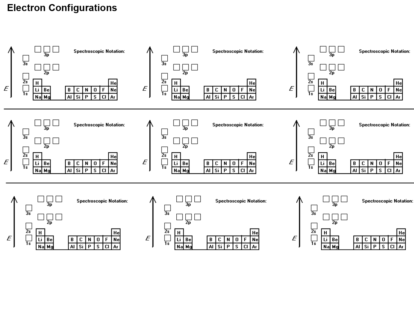 Electron Configurations And Orbital Diagrams Worksheet Exercise Electron Configurations