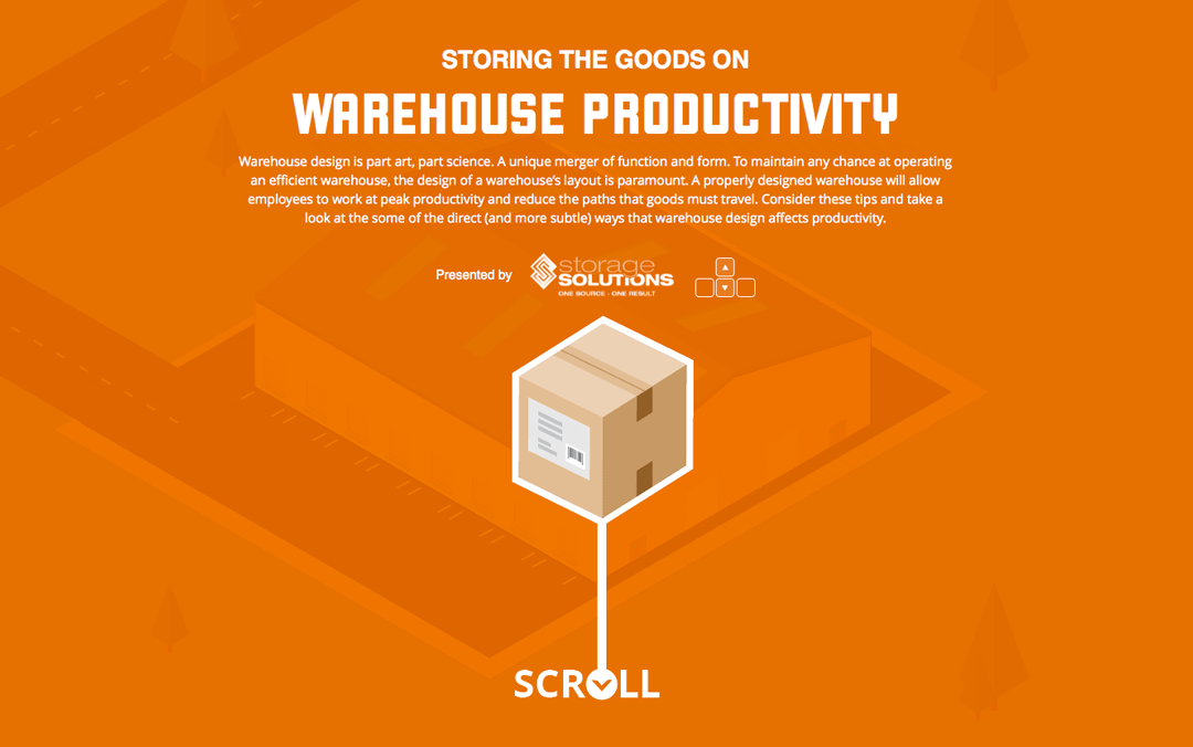 storing the goods one page websites
