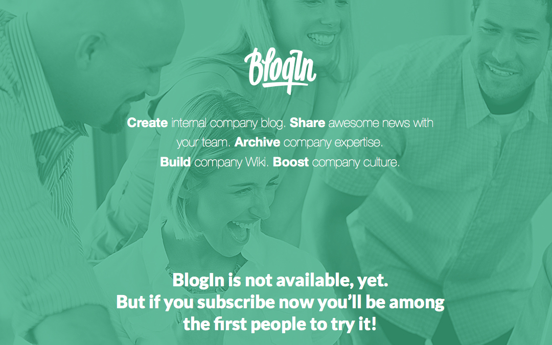 blogin one page site