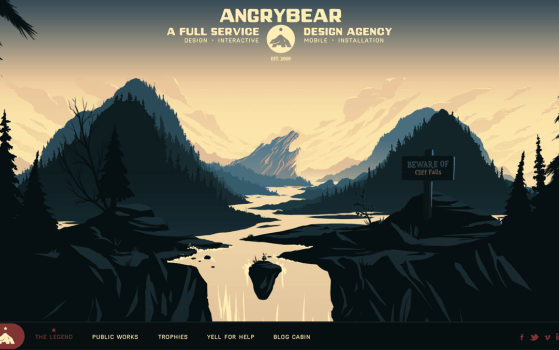 Angry Bear one page site
