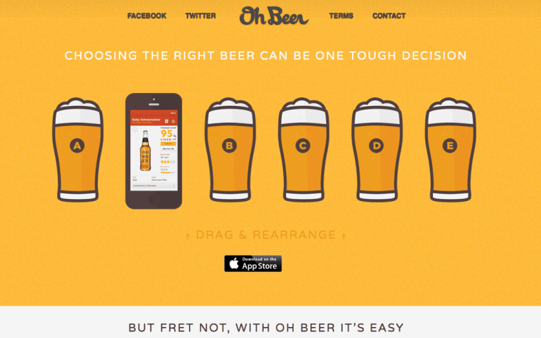 Oh Beer One Page App