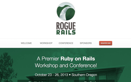 rogue rails one page site