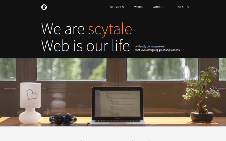 Scytale single page website