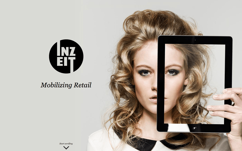 Inzeit one page web design