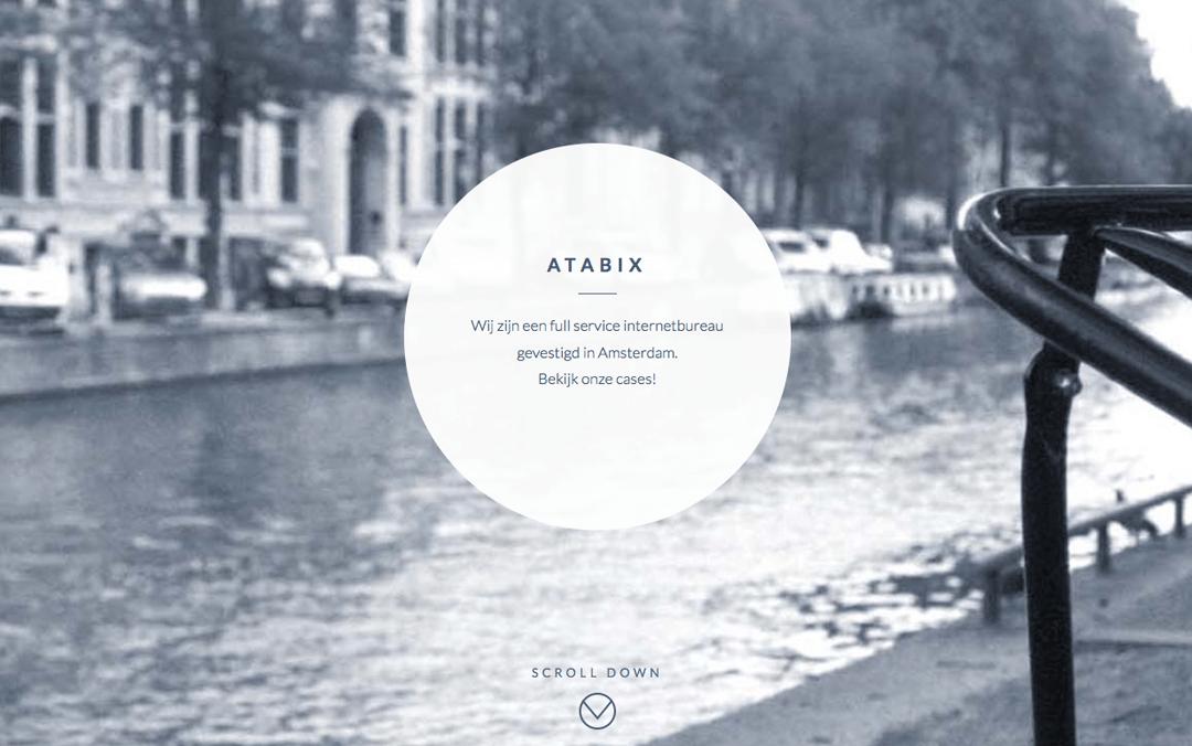 Atabix one page portfolio