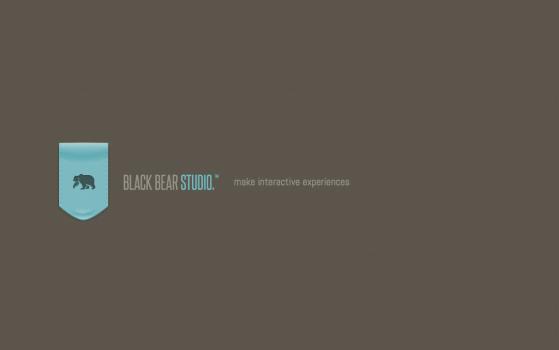 black bear studio one page site