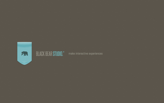 black bear studio one page site