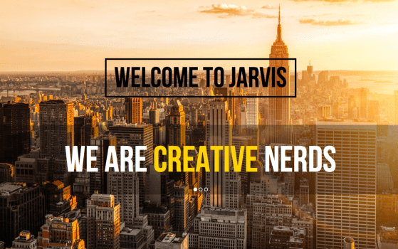 Jarvis template - One page Parallax Theme jarvis