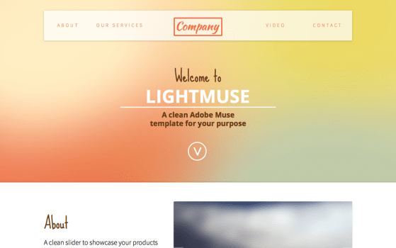 LightMuse one page template