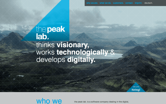 the peak lab one page websites