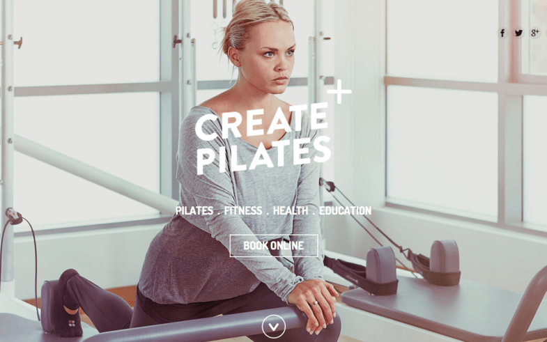 Create Pilates most loved website