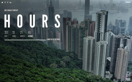 Hours || Responsive Coming Soon Page