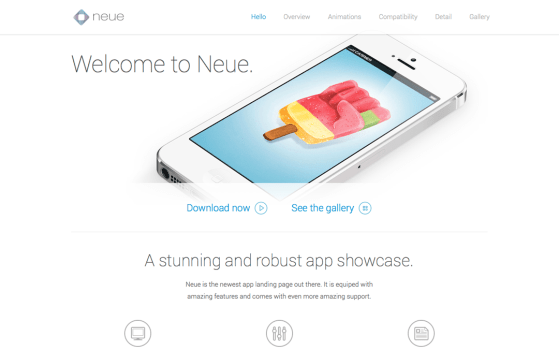 Neue - App Landing Page One Page HTML Template