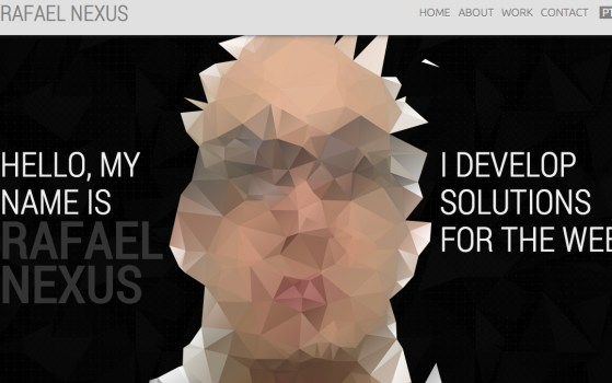 Rafael Nexus one page portfolio site