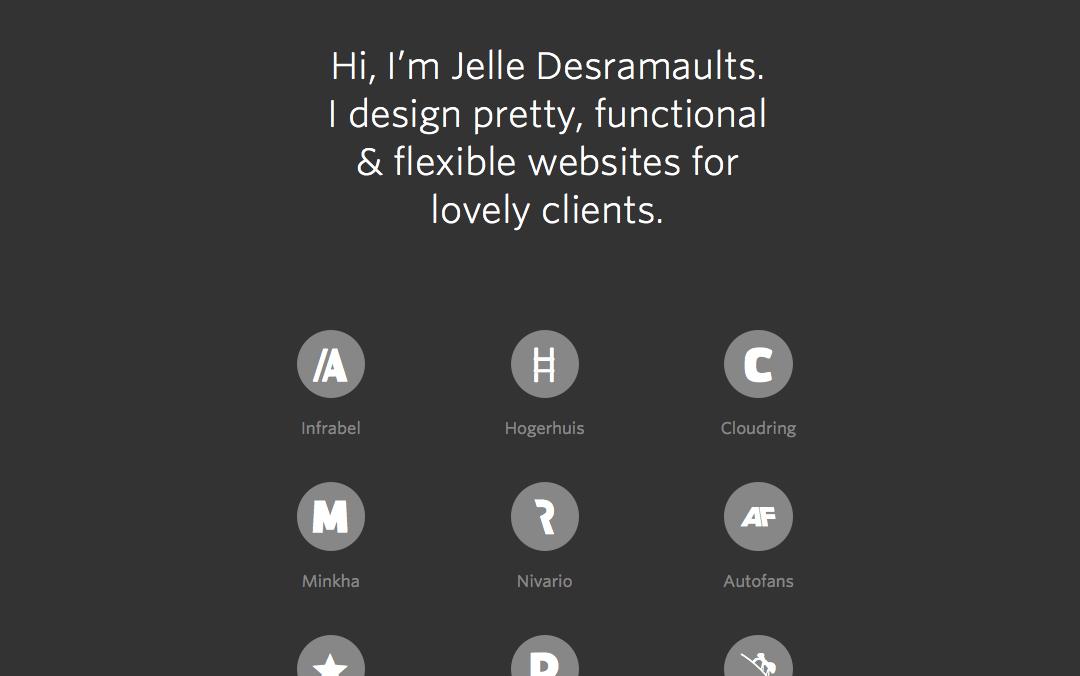 long scrolling website Jelle Desramaults