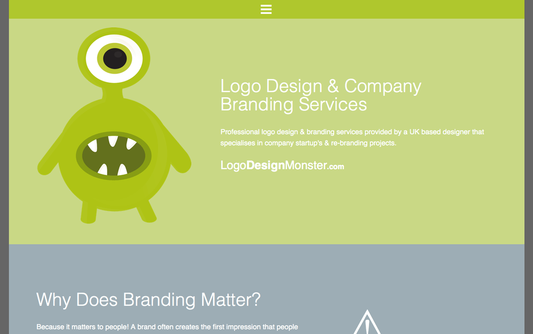 Simple one pager for a logo design service offered by digitalpod,