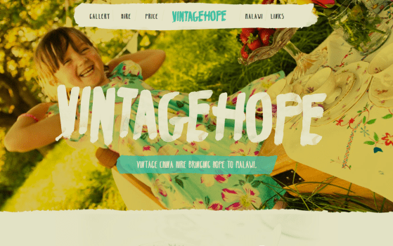 Vintage Hope Featured one page website