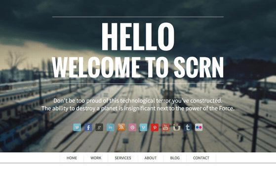 scrn one page theme