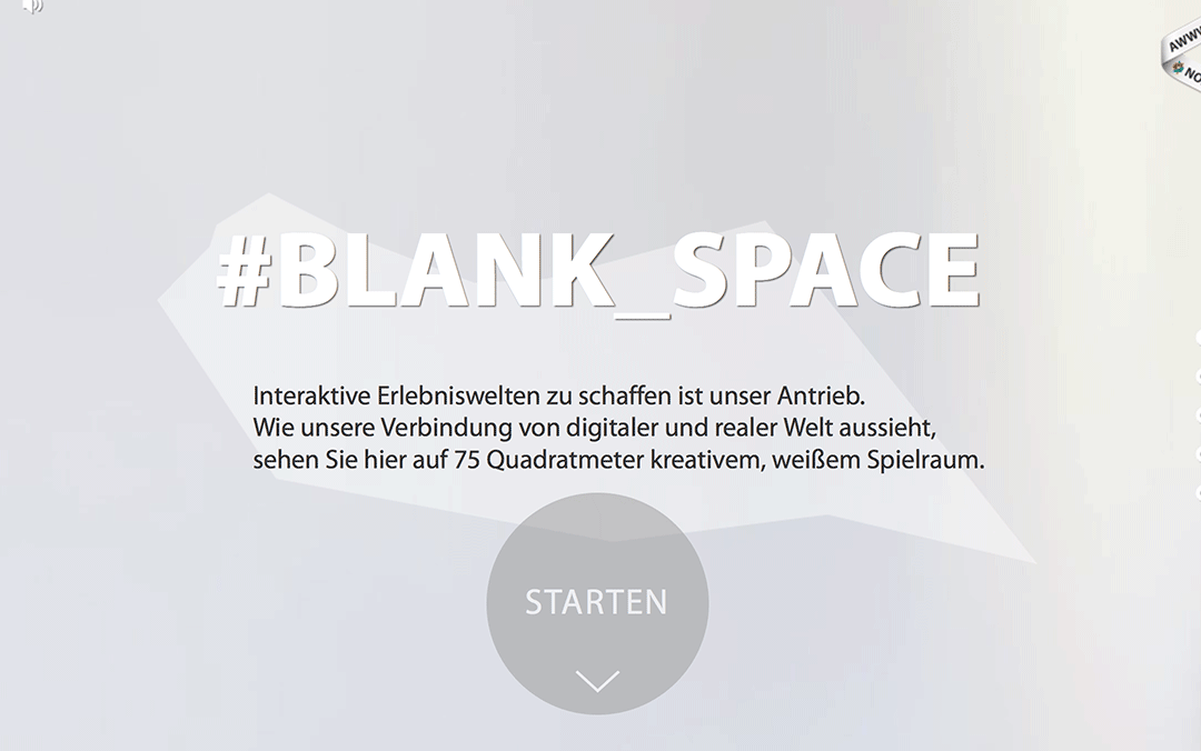blank space one page website