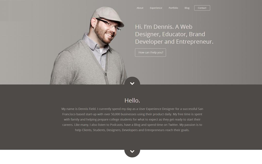 dennis field one page portfolio