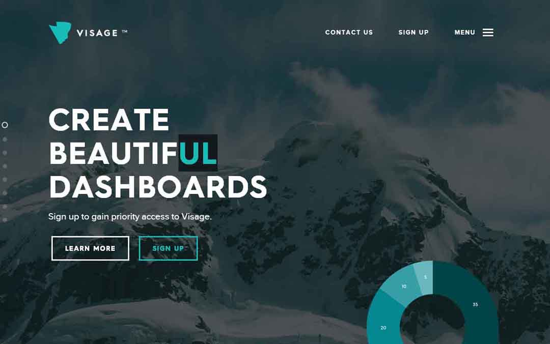 nice animated one page website