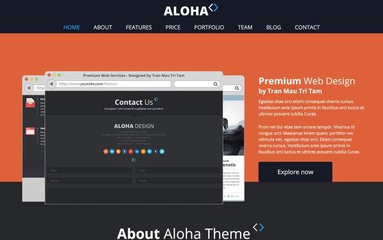 Aloha one page template