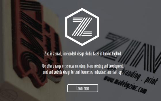 zinc single page site