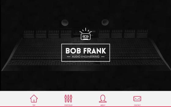 bob frank audio single page website design