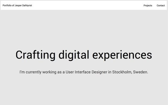 jesper one page websites
