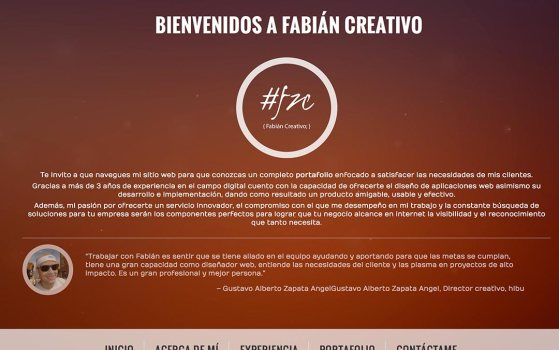 fabian creativo single page websites