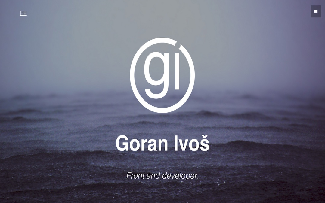 goran ivos one page web design