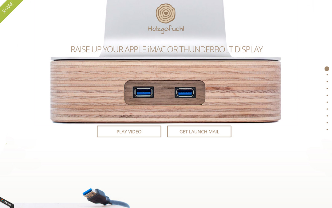 one page product websites