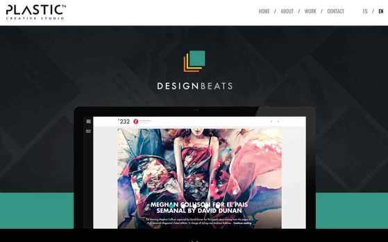 Plastic Creative Studio Single page website