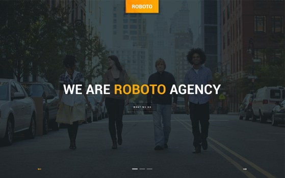 roboto website template