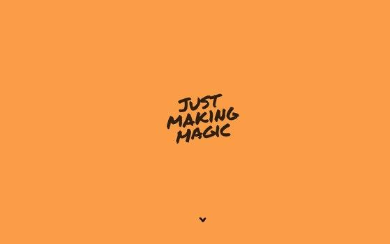 matteo belfio single page portfolio site
