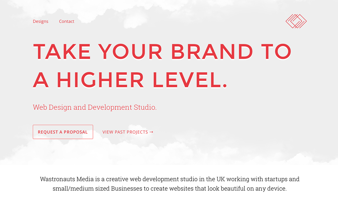 simple one page website design