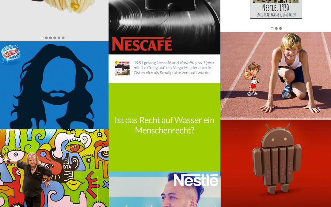 nestle one page websites