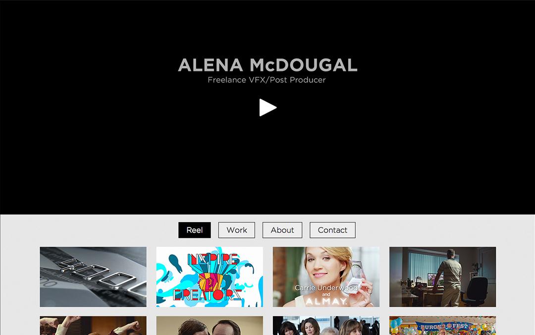 one page portfolio website designer