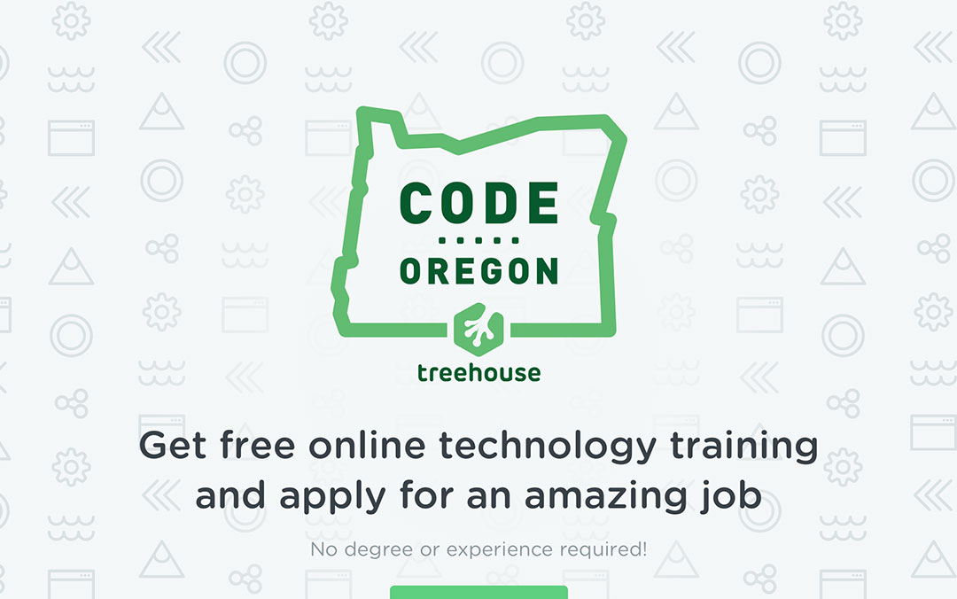 one page site for the code oregon academy
