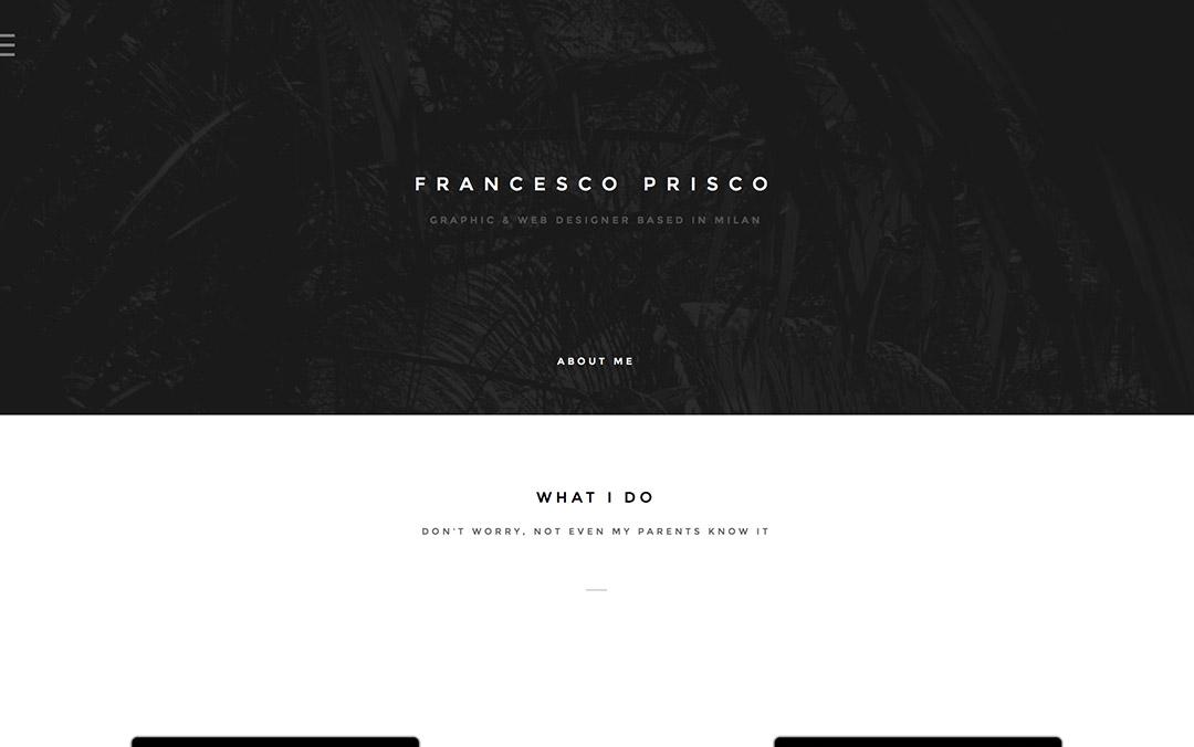 prisco francesco one page web designer