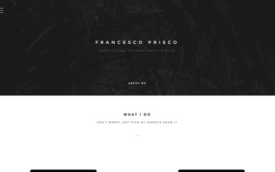 prisco francesco one page web designer