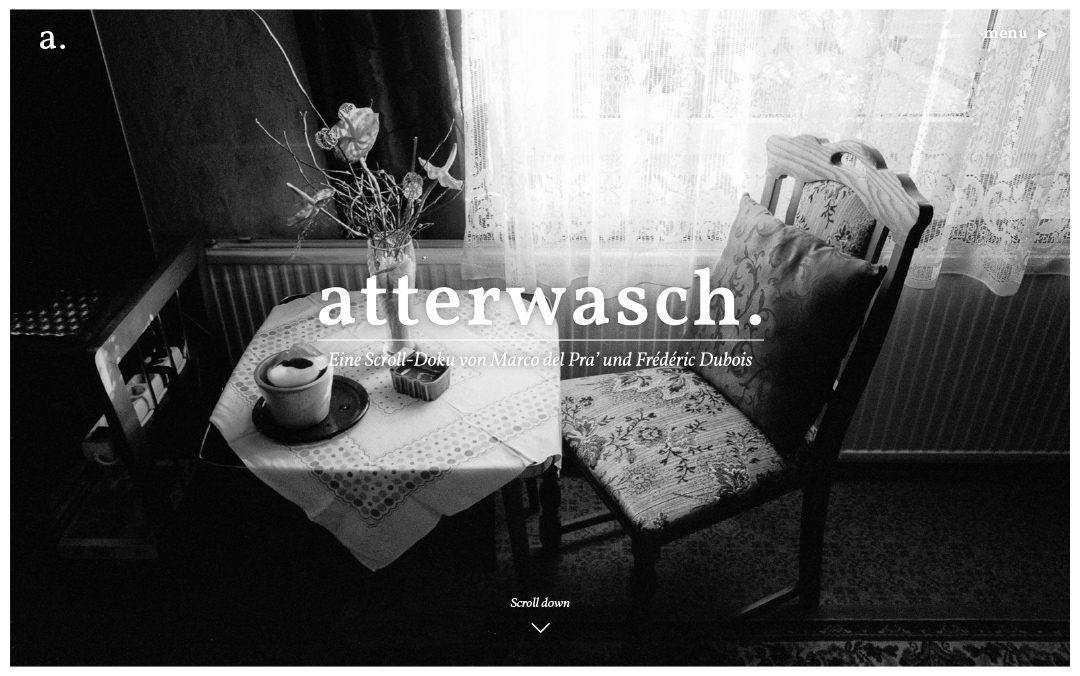 one page German website