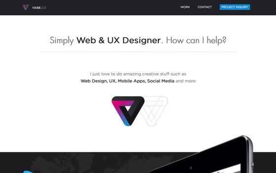 one page portfolio websites