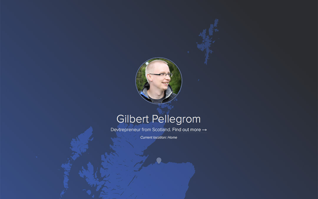 Gilbert Pellegrom front end developer