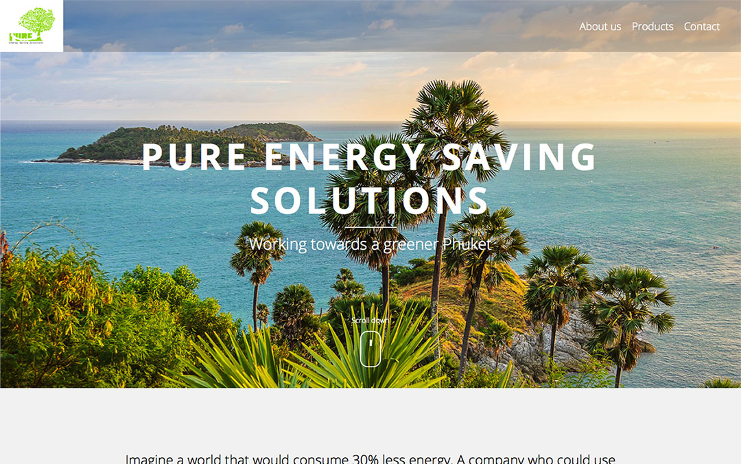 energy saving product website