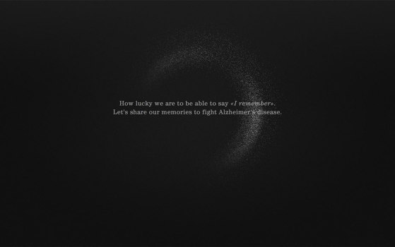 I remember - a one page site bringing awarenesss to Alzheimer's disease