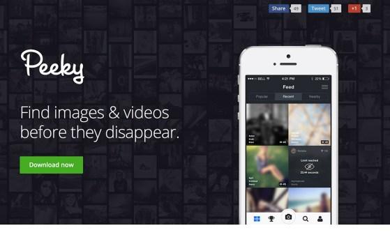 peek app instagram and snapchat