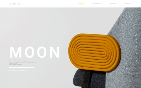 single page product website