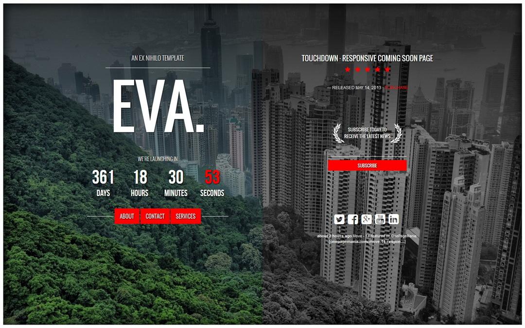 EVA. Coming Soon Template